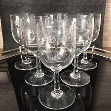Baccarat France Crystal Gläser Sevigne 6 Weingläser Weißwein Süßwein 12,5 cm