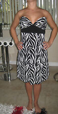 Woman Dress Animal Print  Zebra Style  Size S