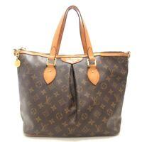 Auth LOUIS VUITTON Palermo PM M40145 Monogram SR3190 Womens Handbag