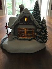 Teleflora's Thomas Kinkade - Stillwater Cottage - 2005 Flickering Fireplace