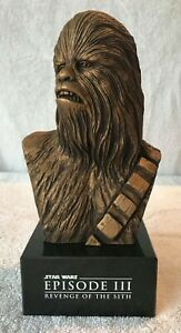 Star Wars Chewbacca Bust Lucas Cast Gift ROTS Rare Statue