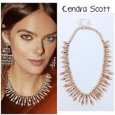 NWT Kendra Scott Womens Cici Statement Necklace Jewelry in Rose Gold $195