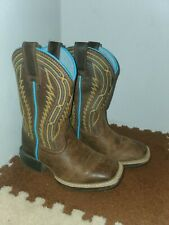 Ariat Boots 4LR children Sz 8 kids Toddler Brown Leather Western Cowboy 10023080