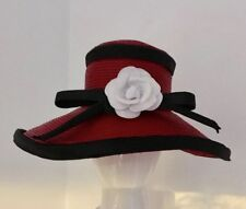 FREDERICK FOX ORIGINAL VINTAGE GLORIOUS RED GLOSS LACQUERED STRAW HAT