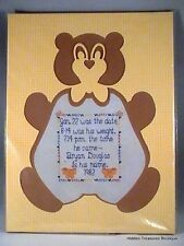 Millie's Shapely Mats Teddy Bear Shape w/Cross Stitch Pattern #58019
