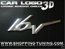LOGO EMBLEM CHROME 3D OPEL ASTRA 16V 16 V ADHESIF ABS