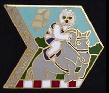 Equestrian Pin Badge ~ U.S. Olympic Festival ~ 1990 ~ Mascot Willie
