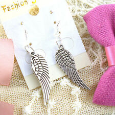 Women 2Pair Charm Lady Fashion Jewelry Silver Angel Wings Stud Earring Gift New