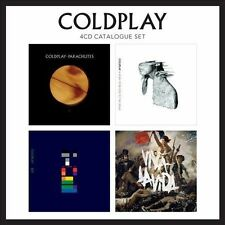COLDPLAY - 4 CD CATALOGUE SET: PARACHUTES/A RUSH OF BLOOD TO THE HEAD/X&Y/VIVA L