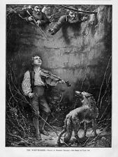 The Wolf Charmer, Fiddler Of Aruntra, Violin, Growling Wolf Ready To Attack Boy