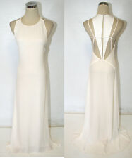 MAX AZRIA $448 White Formal Pageant Prom Ball Gown M