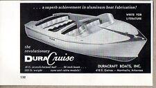 1956 Print Ad Dura-Cruise 19 ft Boats DuraCraft Inc Monticello,AR