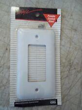 BNIP AMERTAC 935RW STYLE POWDER COATED STEEL WHITE ROCKER SWITCH WALL PLATE