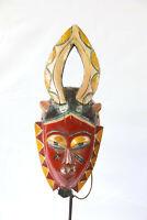 AW5 Guro Baule Maske alt Afrika / Masque Gouro ancien / Old tribal mask Africa