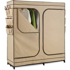 """Honey-Can-Do 60"""" Double Door Storage Closet with Shoe Org W"""