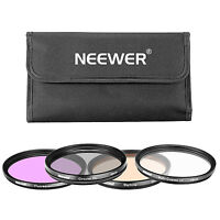 Neewer 4 Pieces 58MM UV CPL FLD Warming Filter for Canon Rebel T6i T6S T5