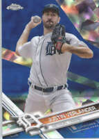 JUSTIN VERLANDER 2017 TOPPS CHROME SAPPHIRE EDITION #450 ONLY 250 MADE