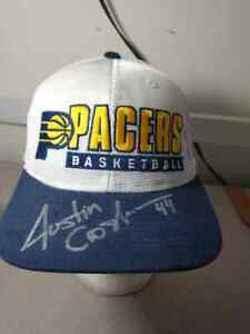 Indiana Pacers Starter's Hat Autographed BY Austin Croshere No COA