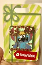 Disney Parks 2018 Stitch Seasons Greetings Hinged Pin Christmas Holiday LE 5000