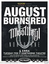 "AUGUST BURNS RED / MISS MAY I 2015 ""FROZEN FLAME TOUR"" PORTLAND CONCERT POSTER"