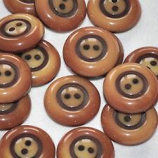 lot de 5 boutons ronds plastique marron en dégradé 18mm button