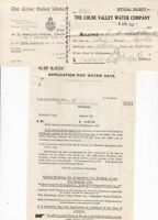 THE COLNE VALLEY WATER COMPANY, 1931 Application, Stamp Card & Receipt Ref 46478