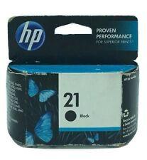 Genuine HP 21 Black Ink Cartridge C9351A. EXP 11-2013
