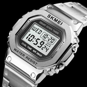 SKMEI Men's Digital Watch Fashion Sports Waterproof Alarm Military Wristwatches