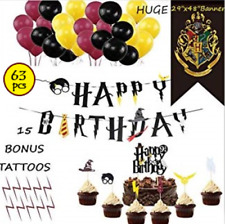 HARRY POTTER Birthday Party Decorations Supplies Balloons flag banner tattoos