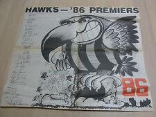 Hawks 1986 Premieres Weg Poster Hawthorn Football Club Aussie Rules Footy