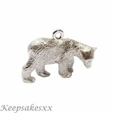 Charm Sterling Silver POLAR BEAR cub -  wild  zoo animal NEW UK 3D Charms