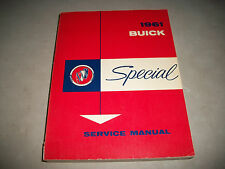 ORIGINAL 1961 BUICK SPECIAL CHASSIS SERVICE SHOP MANUAL EXCELLENT CMYSTOR4MORE
