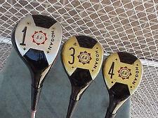 Ben Hogan Golf Clubs set Woods Driver 3 4 w Apex R Flex Steel & Original Grips
