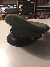 "Vintage Army Officer Visor Cap Hat, 6 3/4"", VG-EX, WWII, Korea, Vietnam"