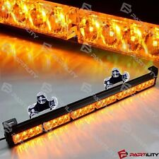 25 inch 24-LED Amber Light Emergency Warn Strobe Flash Yellow Bar Hazard Dash