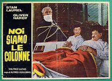 T38 FOTOBUSTA NOI SIAMO LE COLONNE STAN LAUREL OLIVER HARDY STANLIO OLLIO 1
