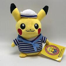 "Pokemon Monthly Plush Sailor Pikachu Soft Toy Stuffed Animal Doll Teddy 8"" NWT"