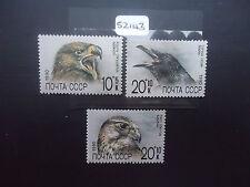 Rusia 1990 Zoo fondo de socorro (3v Set) (SG 6135-37) estampillada sin montar o nunca montada