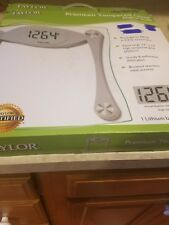 Taylor Glass Digital Bath Scale With LCD Display