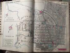1942 Delaware Co Upper Darby Pa Aronimink Golf & Hi-Top Country Club Atlas Map