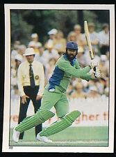 1984 Scanlens Cricket Sticker unused number 49 Zaheer Abbas