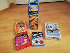 Spielepaket,Qwixx,ATA DDR Gedächtnisspiel,Jenga......