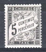"FRANCE STAMP TIMBRE TAXE N° 14 "" TYPE DUVAL 5c NOIR "" NEUF xx TB    P400"