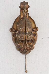 Antique Late Victorian Edwardian Gilded Brass Bronze Light Fixture Wall Sconce