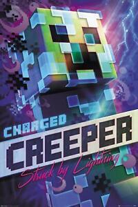 Minecraft Poster Charged Creeper 61 x 91,5 cm Plakat Wanddeko Wandbild Deko