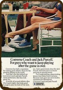 1973 CONVERSE Vintage Look REPLICA METAL SIGN SEXY WOMAN IN BIKINI PLAYS FOOTSIE