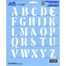Upper Case Alphabet Stencil   Simply Stencils Template by Plaid 28585  NEW