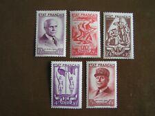French Marshal Petain 87th Bday Semi-Postal Set MVLH