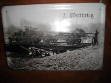 Blechschild 2. Weltkrieg  20x30 cm gross gewölbt