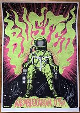 BUSTED WEMBLEY ARENA HAND SIGNED AUTOGRAPHED & NUMBERED A2 SIZE ART PRINT POSTER